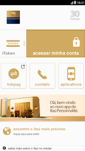screenshot of Itaú Personnalité version 4.1.17