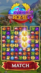 screenshot of Jewels of Rome: Match gems to restore the city version 1.8.800