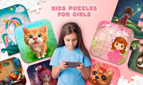 screenshot of Kids Puzzles for Girls version 1.10.12