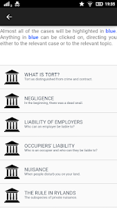 screenshot of Law Made Easy! Tort Law version 4.0
