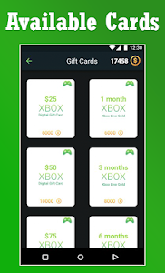 screenshot of Live Gold Membership For xBox&Gift Cards Codes version 1.0.0