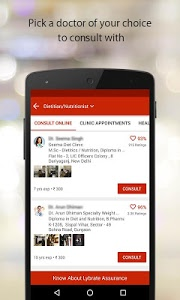 screenshot of Lybrate - Consult a Doctor version 3.1.5