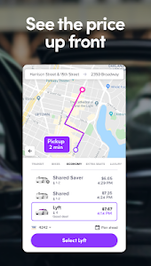 screenshot of Lyft - Rideshare, Bikes, Scooters & Transit version Varies with device