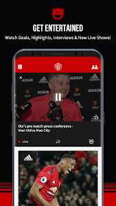 screenshot of Manchester United Official App version 6.6.1