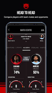 screenshot of Manchester United Official App version 6.8.6