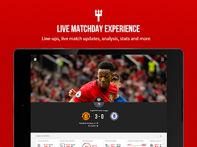 screenshot of Manchester United Official App version 6.9.0