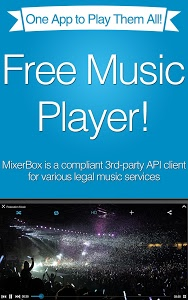 screenshot of MixerBox: Unified Music Player version 5.37
