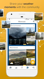 screenshot of Morecast - Your Personal Weather Companion version 4.0.7