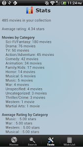 screenshot of Movie Collection & Inventory version 2.194