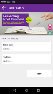 screenshot of Ncell App - Free SMS, Buy Data Packs, Recharge version 3.0.0.1