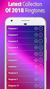 screenshot of New Ringtones 2018 version 1.8