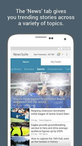 screenshot of News Suite by Sony version 5.0.38.30.1
