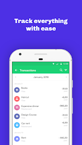 screenshot of Organizze: Finance tracker, budget planner version 3.0.13