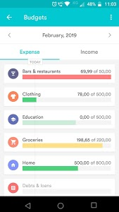 screenshot of Organizze: Expense Tracker and Budget Planner version 2.6.9