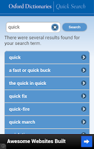 screenshot of Oxford Dictionaries – Search version 1.2.0
