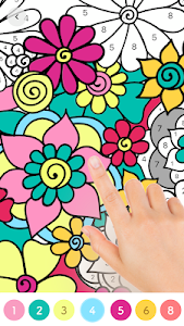 screenshot of Paint.ly Color by Number - Fun Coloring Art Book version 1.4.7.1