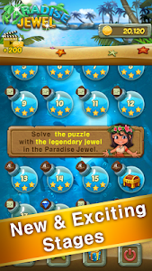 screenshot of Paradise Jewel: Match 3 Puzzle version 57