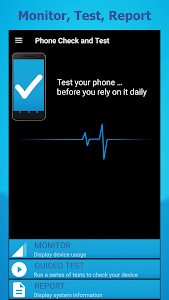 screenshot of Phone Check (and Test) version 11.9