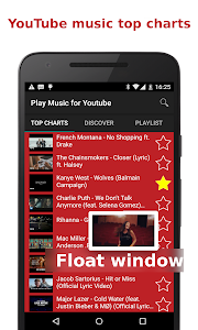screenshot of Play Music for YouTube version 1.3.7