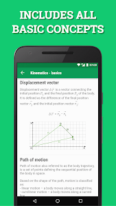 screenshot of Pocket Physics version 3.2.104