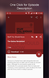 screenshot of Podcast Player version 5.8.5-190924079.r448d5b6
