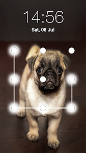 screenshot of Puppy Dog Pattern Lock Screen version 4.3