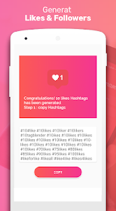screenshot of Real Followers & Get Likes for Instagram version 1.8