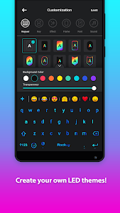 screenshot of Rockey LED keyboard-Colorful, lighting, RGB, emoji version 1.6.4