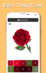 screenshot of Rose Flowers Coloring Book, Color By Number Pixel version 3.0