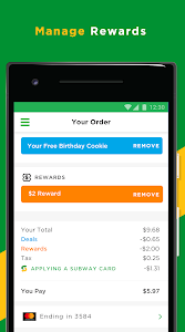 screenshot of SUBWAY® version 7.7.0.0