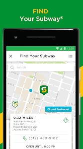screenshot of SUBWAY® version 12.1.0.0