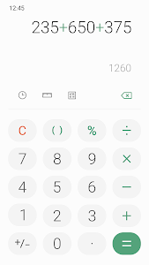 screenshot of Samsung Calculator version Varies with device