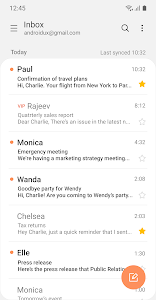 screenshot of Samsung Email version 6.1.11.6