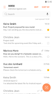 screenshot of Samsung Email version Varies with device