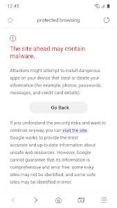 screenshot of Samsung Internet Browser Beta version 9.2.00.19