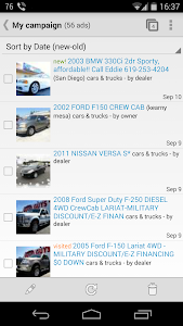 screenshot of Search Craigslist with cubiX version 2.69