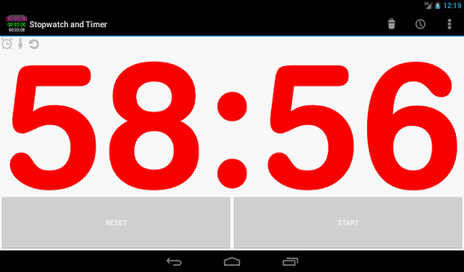 screenshot of Talking Stopwatch & Timer version 1.9.4