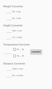 screenshot of Simple Unit Converter version 1.2