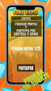 screenshot of Sorteos de Diamantes Free version 9.0