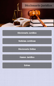 screenshot of Spanish Legal Dictionary version 1.1