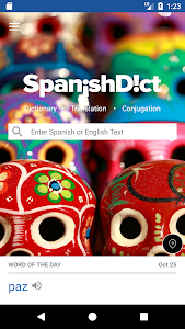 screenshot of SpanishDict Translator version 2.1.25