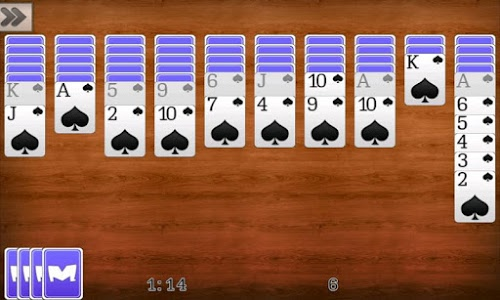 screenshot of Spider Solitaire version 1.0.10