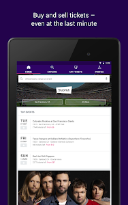 screenshot of StubHub - Event tickets version Varies with device