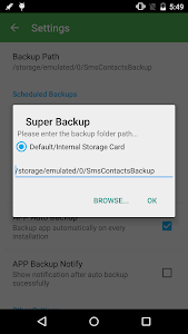 screenshot of Super Backup & Restore version Varies with device