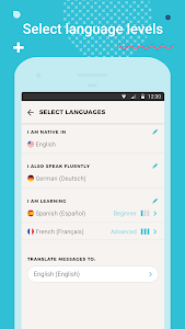 screenshot of Tandem Language Exchange: Speak & learn languages version 2.0.4