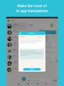 screenshot of Tandem Language Exchange: Speak & learn languages version 2.0.3