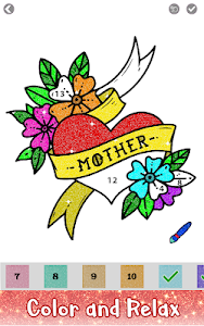 screenshot of Tattoo Glitter Color by Number - Sandbox Coloring version 1.1