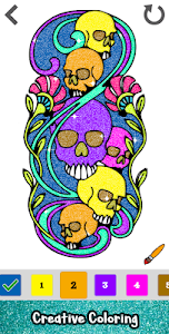 screenshot of Tattoo Glitter Color by Number - Sandbox Coloring version 1.0