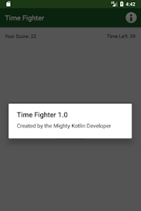 screenshot of Time Fighter version 1.0