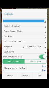 screenshot of Timestamp Camera Free version 1.161